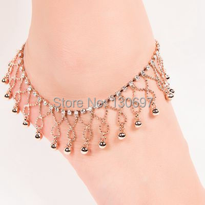 2017 Ankle Bracelet Simple Bell New Layers Tel Tornozeleira Praia Turquoise Indian Bijoux Legging Woman Anklet Free Shipping In Anklets From Jewelry