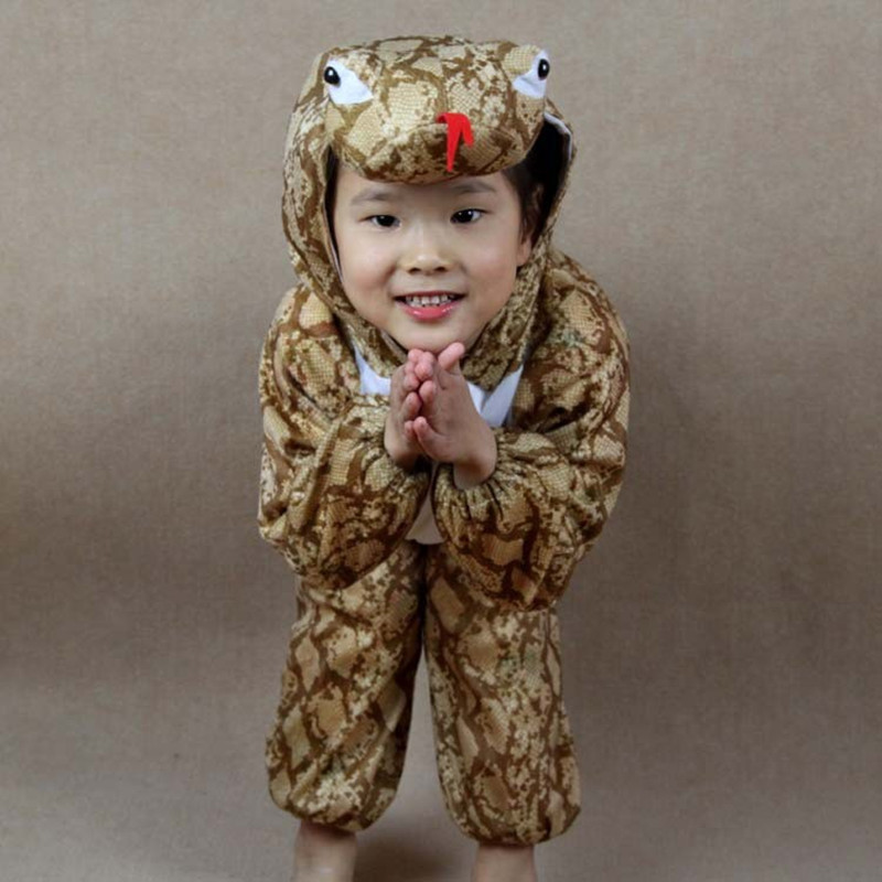 Halloween  Boys Girls Cartoon Children Kids Animal Costume Cosplay Clothing snake Animals Costumes Jumpsuit