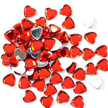 100PCS Heart Shape Acrylic Crystal Diamond Pawn Irregular Stone Chessman Game Pieces For Token Board Accessories 15 Colors