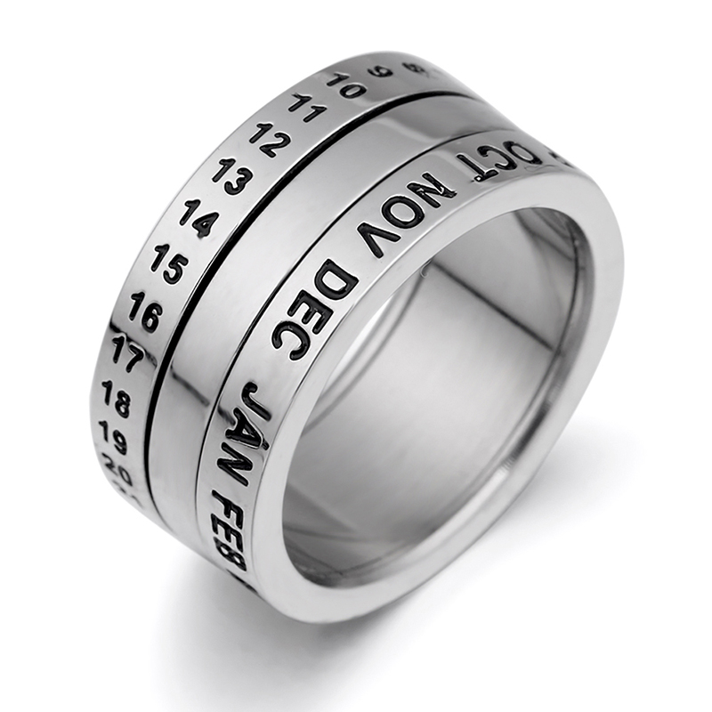 Aliboonary round shape without one stone fashion ring made of stainless steel for both man and women Beauty and jewelry