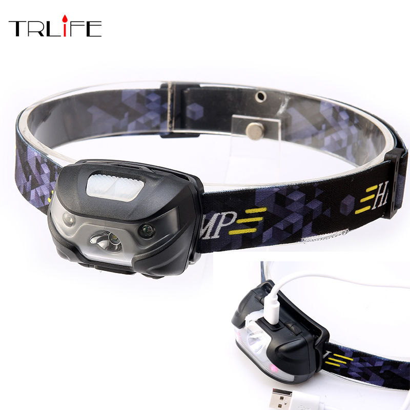 3000Lumens LED Body Motion Sensor Headlamp Mini Headlight Rechargeable Outdoor Camping Flashlight Head Torch Lamp With USB albinaly 5w led body motion sensor headlamp mini headlight rechargeable outdoor camping flashlight head torch lamp with usb