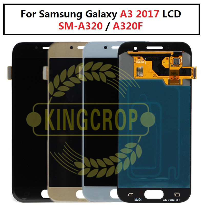 Pour l'écran d'affichage à cristaux liquides de Samsung A320 pour l'écran tactile d'affichage à cristaux liquides de Samsung Galaxy A3 2017 SM-A320 A320F avec l'assemblage de numériseur