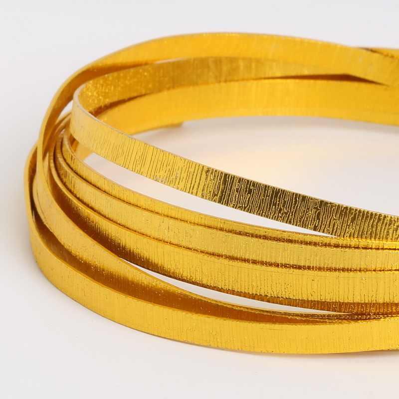 Miękkie złoto drut aluminiowy 1/1. 5/2/2.5/5mm frezowanie drutu dla bransoletka naszyjnik tworzenia biżuterii biżuteria DIY akcesoria