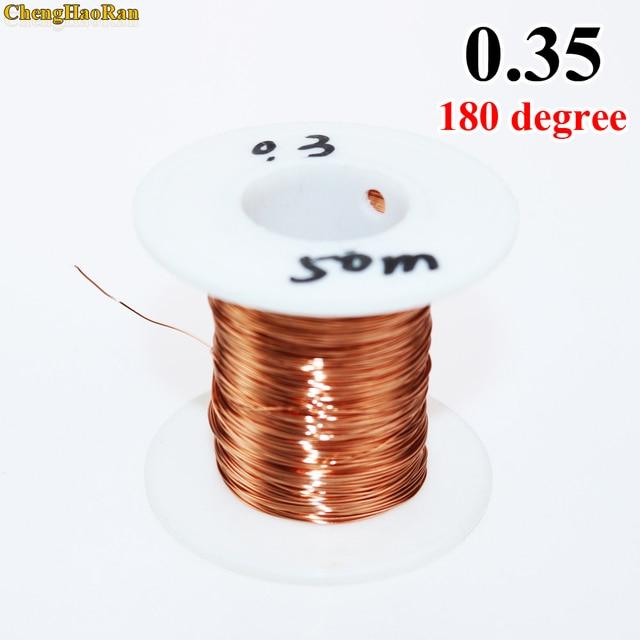 Chenghaoran 0.35 Mm X 50 M = 1 Stuk 2UEW QA 180 Polyurethaan Geëmailleerd Draad Koperdraad 50 Meter/pc