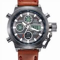 Hombres reloj Marca AMST Moda Deporte Ejército Impermeable Correa de Cuero Nuevo reloj Diver Digital-reloj de Cuarzo Relogio masculino 2016