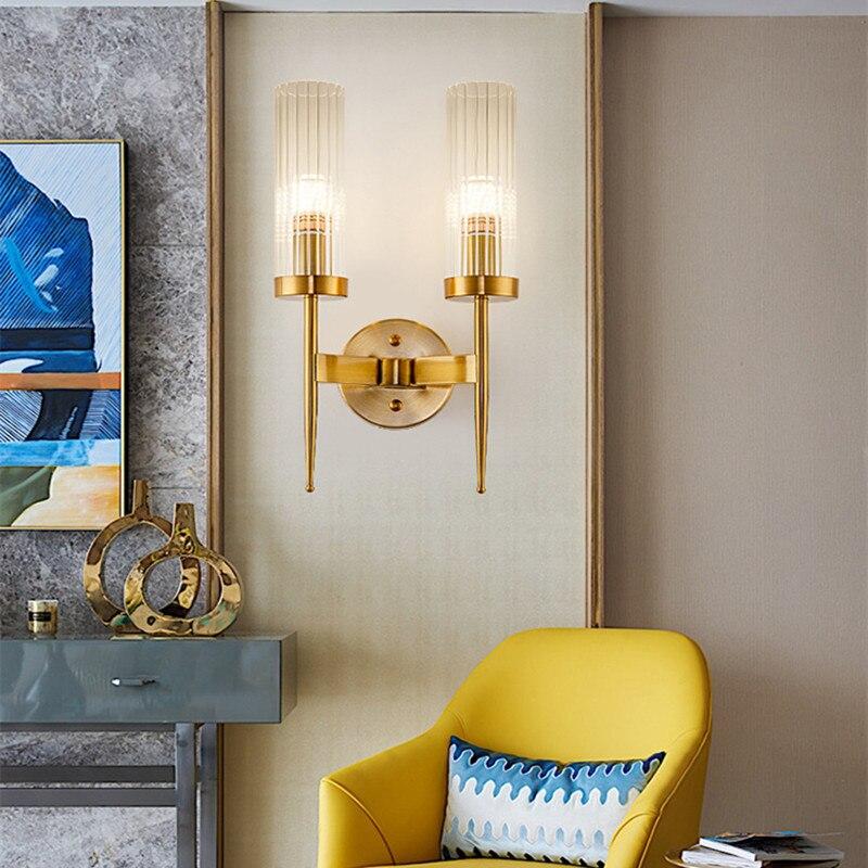 Moderne Loft salon cristal applique murale doré Noble hôtel Hall Villa applique murale Led cuisine chevet lumière livraison gratuite