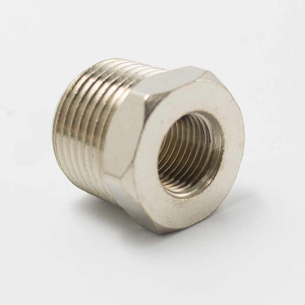 """1//4/"""" Male x 1//8/"""" female BSPT HEX REDUCING BUSH STAINLESS STEEL PIPE FITTINGS"""