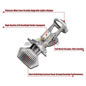 Image 4 - Sinolyn Bi LEDเลนส์H4 9003 MINI LEDไฟหน้าโปรเจคเตอร์เลนส์ปรับ 1.5 60W 5500Kรถยนต์ชุดไฟรถอุปกรณ์เสริมDIY