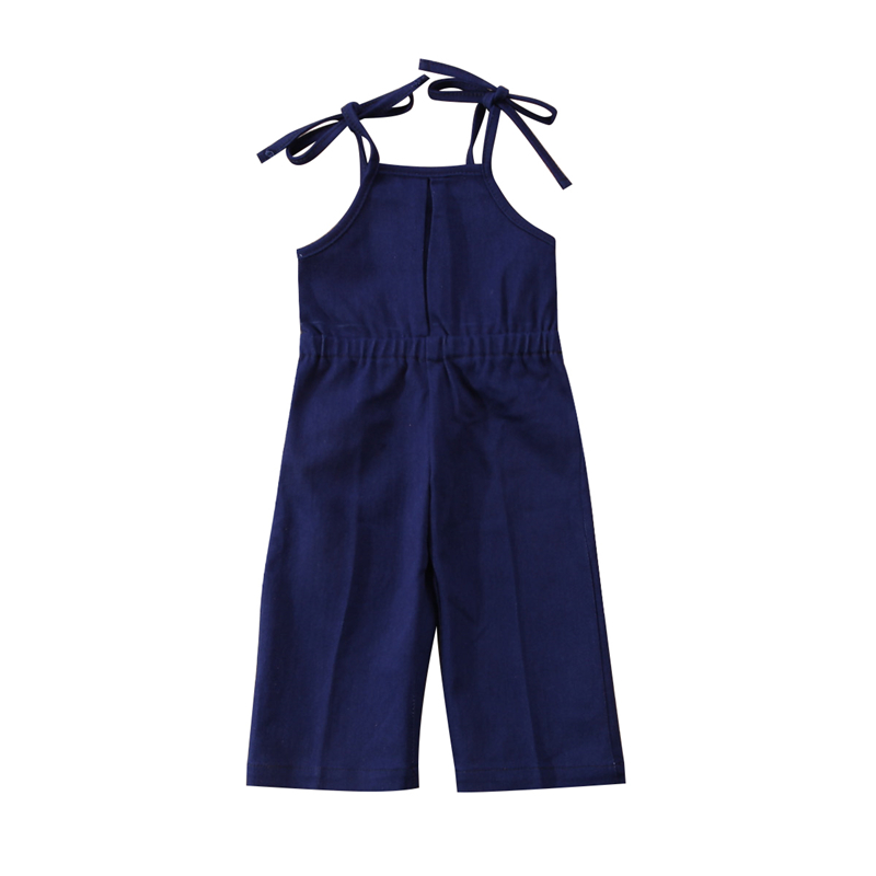 Cute Denim Romper For Girls Newborn Baby Girl Jeans Strap Romper 2018 Newest Bebes Jumpsuit Outfits Hot Baby Girls Clothes 1-7T