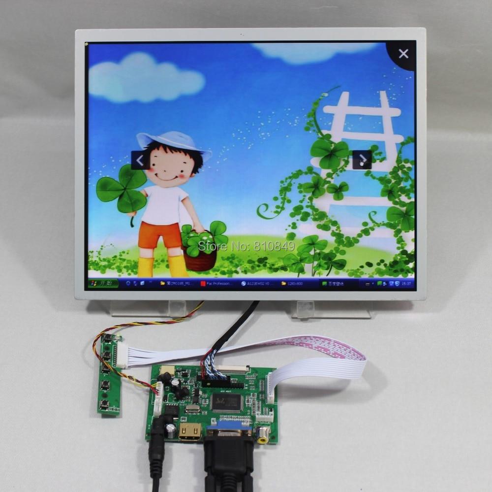 HDMI+VGA+2AV LCD driver board+12.1inch LQ121S1LG73 800*600 Lcd screen hdmi vga 2av lcd driver board 8inch 800 600 ej080na 05b replacement at080tn52