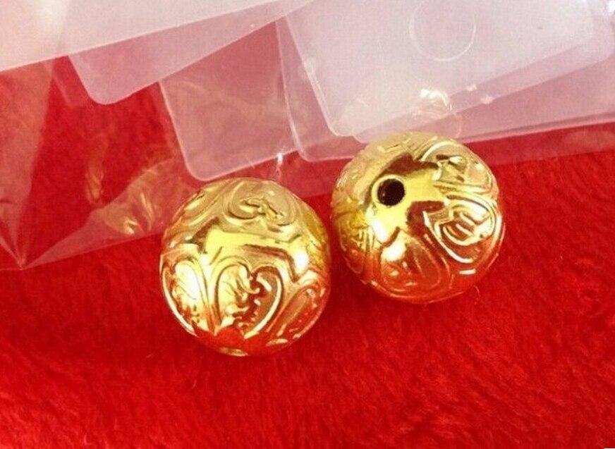 Luxury Fashion 1pcs Pure 24K Yellow Gold Pendant / 3D Carved Six Words Sanskrit Pendant / 0.92 pure 24k yellow gold natural jadeite carved dragon phoenix pendant
