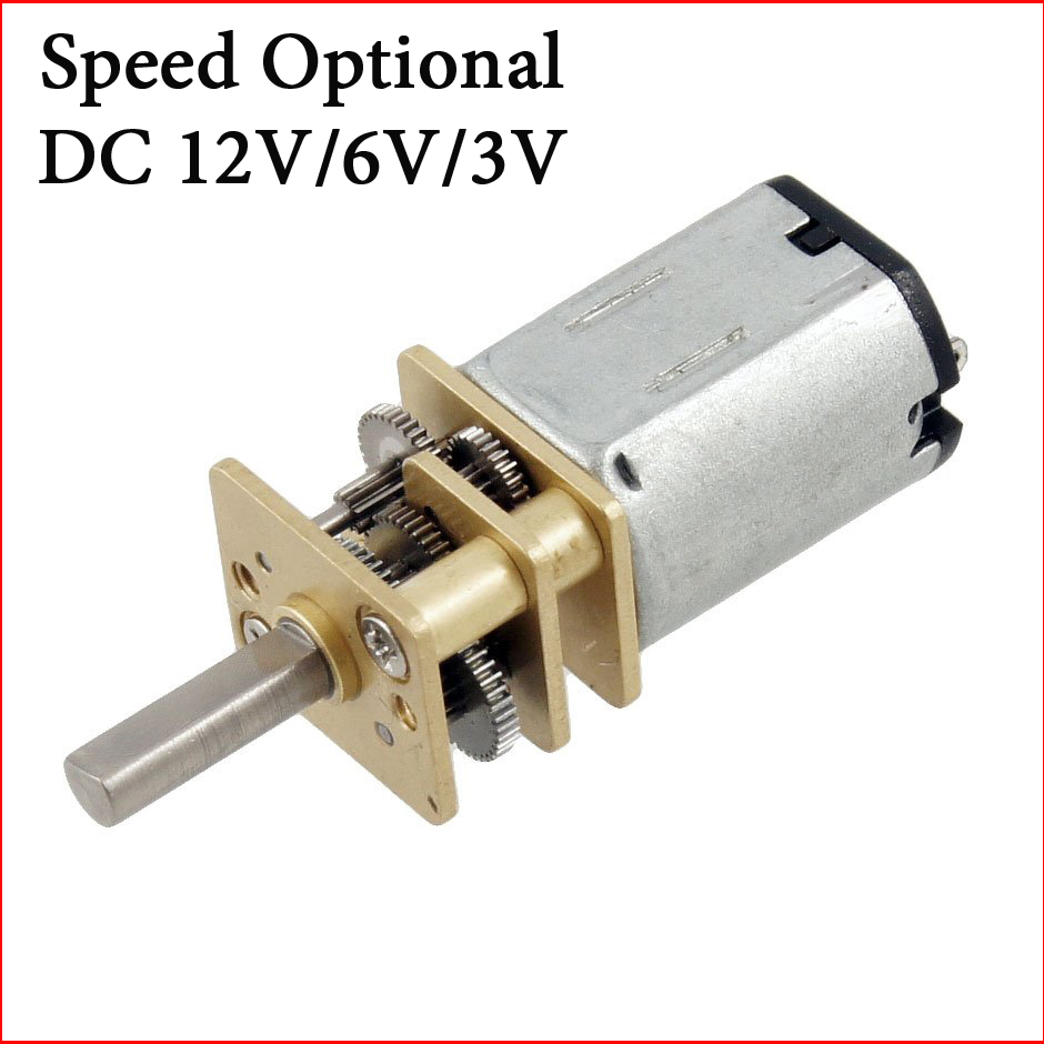 Hot 2pcs Speed Optional Dc 3v 6v 12v Motor Torque Gear