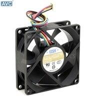Avc da08025b48u p021 용 dc48v 0.14a 4 선 80x80x25mm 서버 인버터 산업용 케이스 냉각 팬