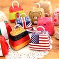 Free Shipping Various Patterns Tote Shape Zakka Tin Candy Box Mini Storage Jewelry Boxes Coin Purses Wholesale