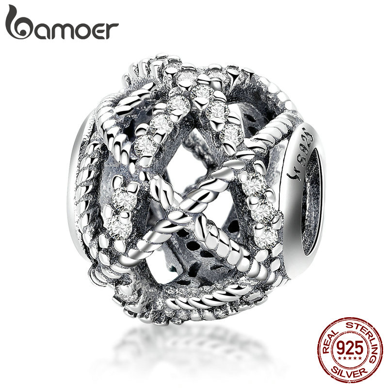 BAMOER 925 Sterling Silver Charmful Twine Round Charm