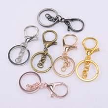 5 шт/лот кольцо для ключей 30 мм брелок длиной 70 омара застежка