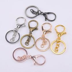 5 pièces/lot porte-clés 30mm porte-clés longue 70mm mousqueton fermoir porte-clés pour la fabrication de bijoux trouver bricolage porte-clés accessoires