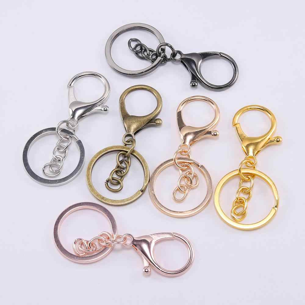 10//20pcs 2 Style Men Car Key Chain Ring Keyring Keyfob Bag Hanger Lobster Clasp