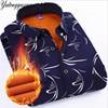 YUTONGYUXUAN Winter Warm Plaid Casual Men Long Sleeve Shirt Dress Shirts Mens Fashion Thick Flannel Shirt