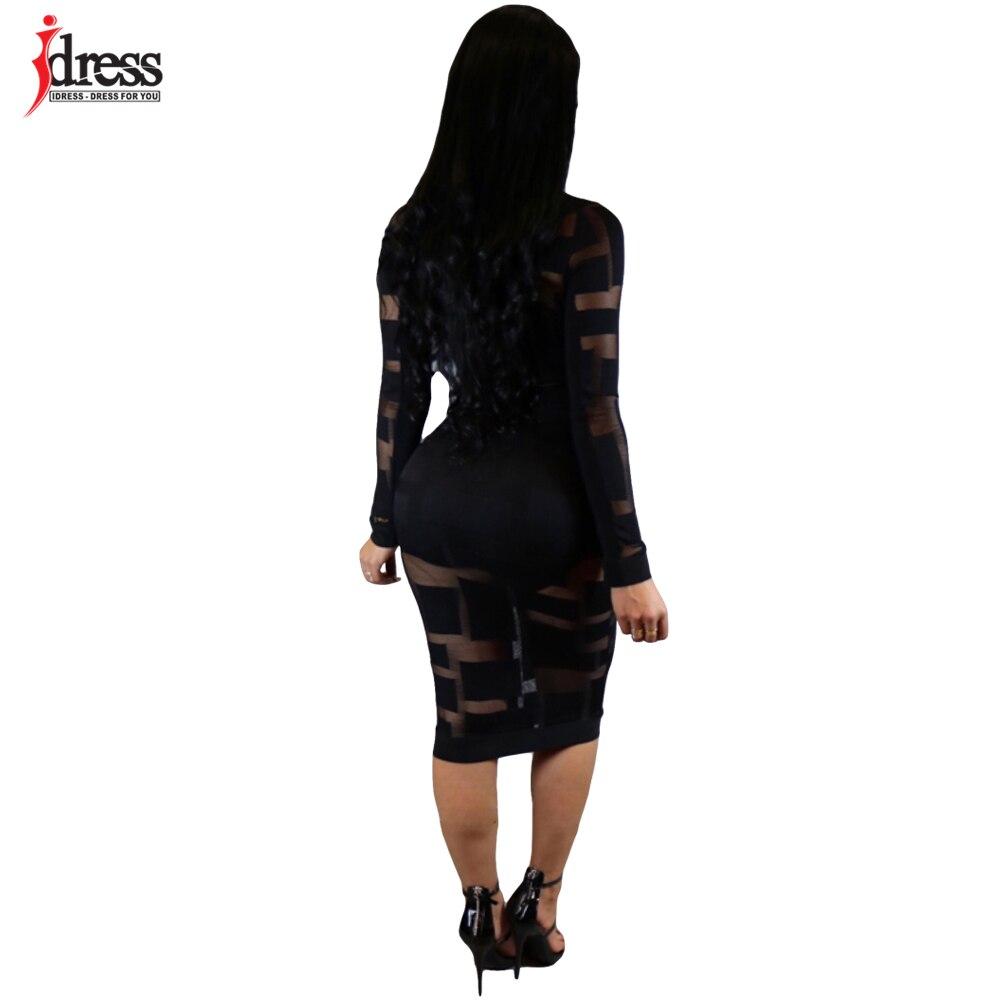 a6b964441 IDress Black Blue Sexy See Through Mesh Dress Cheap Clothes China Fashion  2017 Evening Party Bodycon Long Sleeve Autumn Dresses