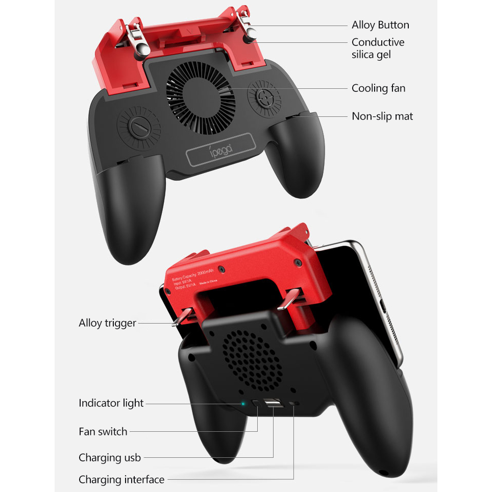 Joystick For Android iPhone Cell Phone Pubg PABG Mobile Controller Gamepad Game Pad Trigger Gaming Control Cellphone Joypad Pugb