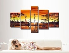 africa harvest  sencery modern fashion oil painting on canvas for decoration free shipping