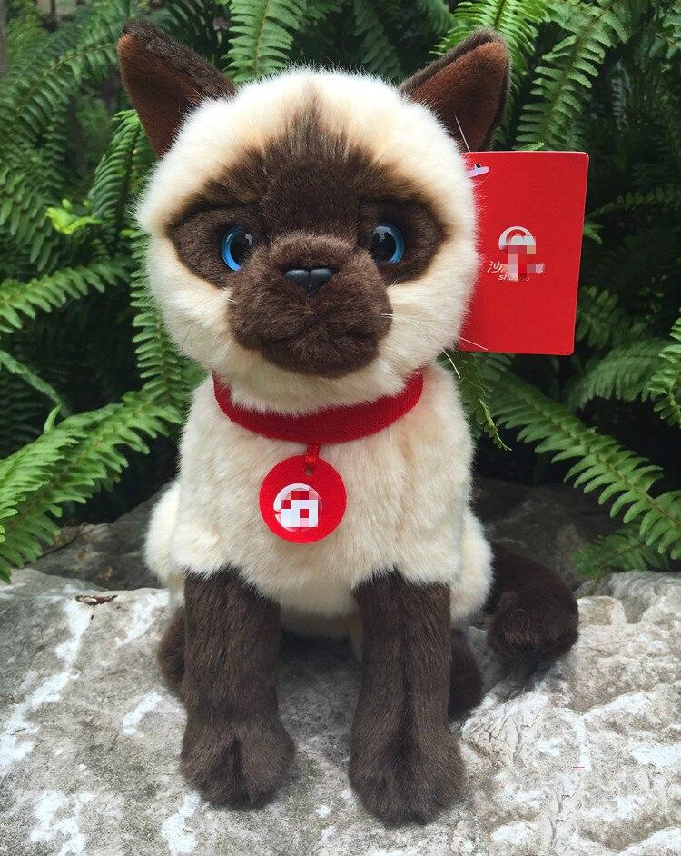 Siamese cat Simulation animal plush toy stuffed dolls kids christmas gift