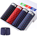 4pcs Mens cotton Boxer Printed Underwear  Boxer Shorts Boxers Underwear underpants waist 53-139cm  L-5XL