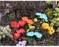 Mehrfarbigen kleinen blumen simulation blumen moos micro landschaft Dekoration DIY landschaft ornamente zubehör-in Figuren & Miniaturen aus Heim und Garten bei