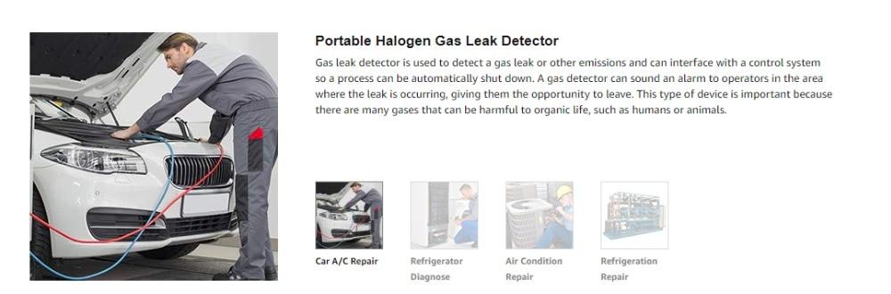 Elitech HLD-100+ Halogen Leak Detector Refrigerant Gas Leak Detector with  high sensitivity 3g/yr, AC Leak Tester, Corona Sensor