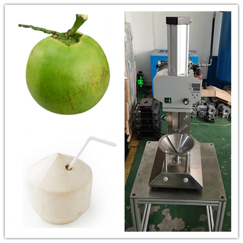 High quality green tender coconut trimming machine young coconut skin peeling machine for sale coconut cowboy