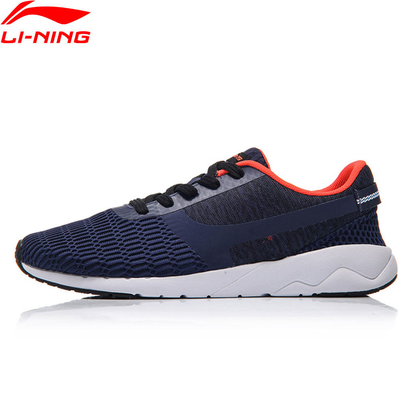 Li-ning Sport vie baskets hommes chaussures de marche doublure chiné chaussures de Sport loisirs confort lumière AGCM041 YXB041