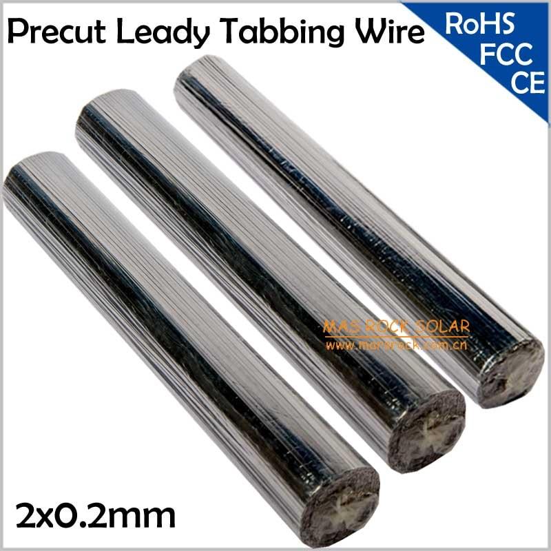 2x0,2 мм Leady PV ленточный провод, предварительно вырезанный Leady Солнечный табуляционный провод, может быть срезан в любой размер, подходит для 125 или 156 солнечных батарей