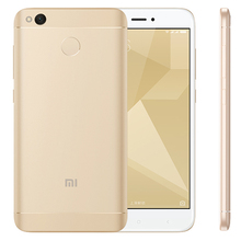 "Original Xiaomi Redmi 4X 4 X Pro Mobile Phone 3GB RAM 32GB Snapdragon 435 Octa Core 5.0"" HD 4G LTE 13.0MP 4100mAh Fingerprint ID(Hong Kong)"