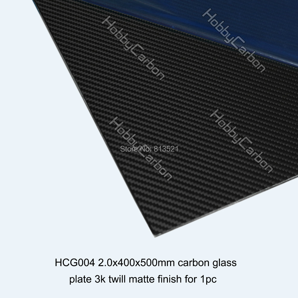 ФОТО HCG004 2.0X400X500mm high composite Carbon Glass twill matte plates