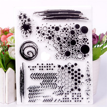 Милый прозрачный чистый силикон штампы для DIY Изготовление скрапбукинга diy фото украшение для альбома Vortex граффити Stempel