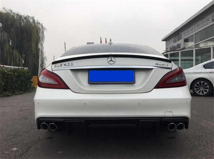 For Benz W218 Spoiler High Quality Carbon Fiber Car Rear Wing Spoiler For Benz W218 CLS300 CLS350 CLS63 Spoiler 2012-2015