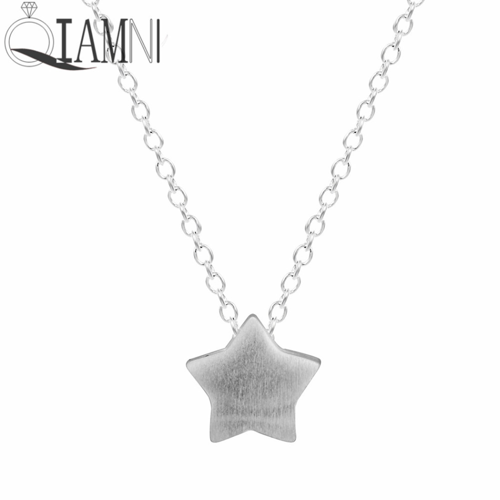 QIAMNI Lovely Star Pendant Chain Choker Necklace for Women Girls Christmas Gift Charm Minimalist Jewelry