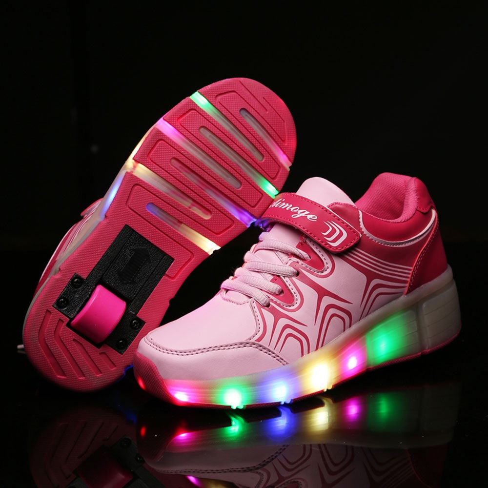 Roller skates light up - Glowing Sneakers Children Shoes Kids Light Up Shoes Roller Skate Shoes With Wheels For Boys Girls Tenis Masculino Esportivo In Sneakers From Mother Kids