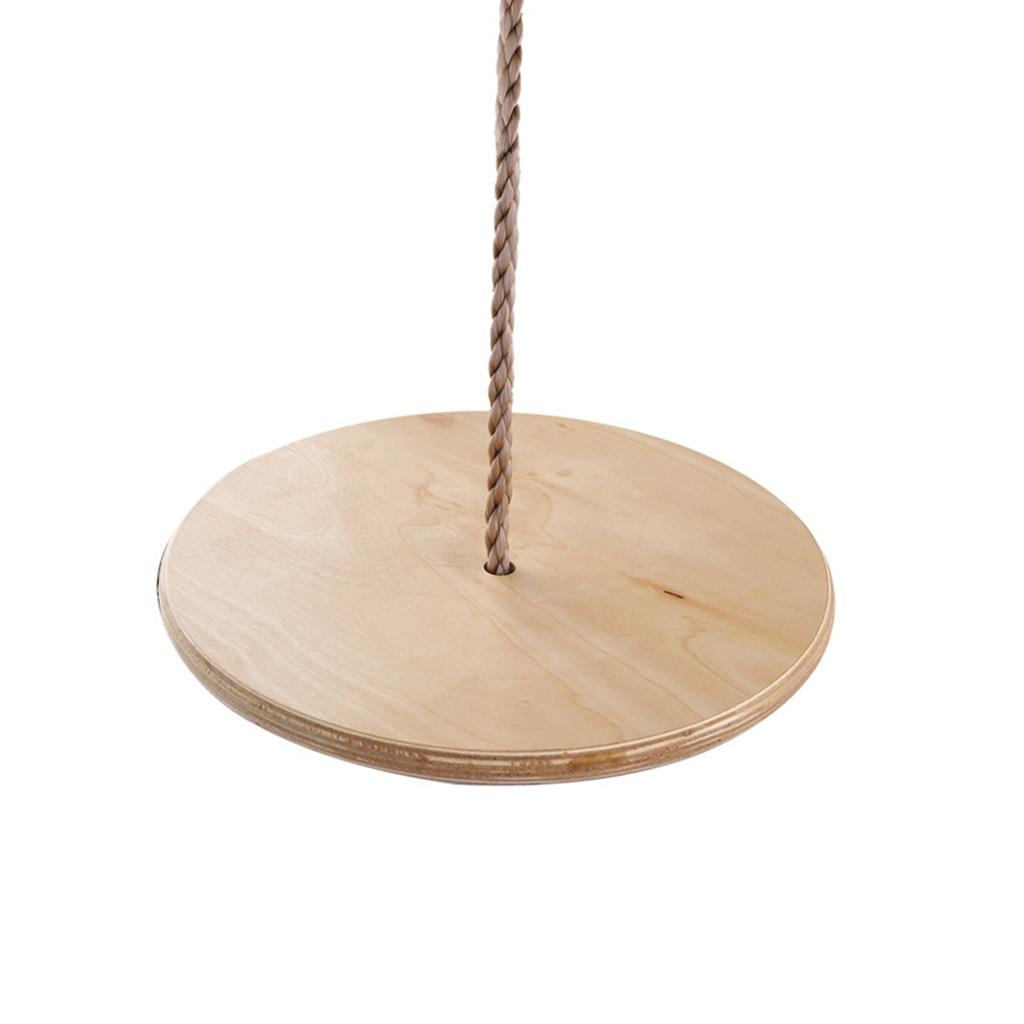 100KG Load Bearing Wooden Disc Seat Hanging Swing Gymnastic Game Kids/Children Garden Playground Toy