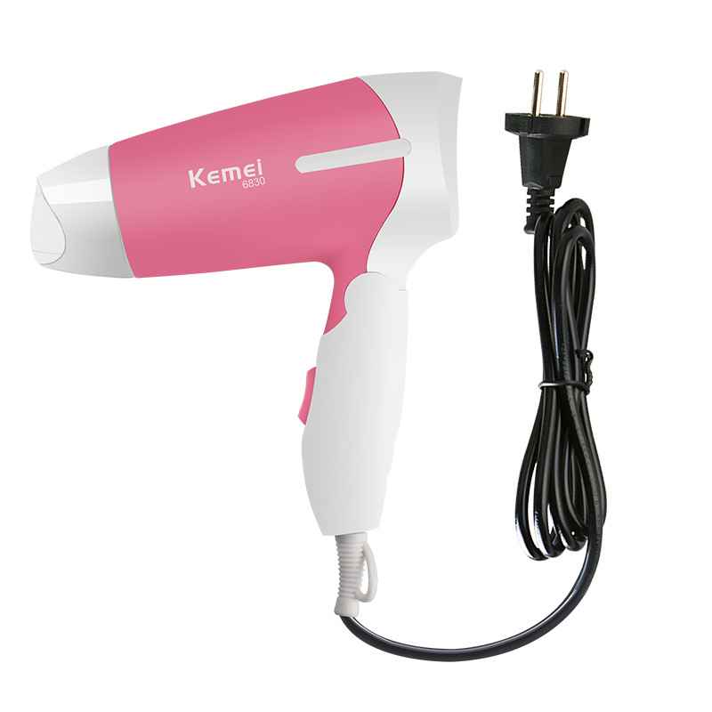 KM-6830 Brand Portable mini hair dryer 1200W hot and cold dual-function switch hair dryer EU Plug Personal care appliances km 585 brand 7 in 1 hair braider tool professional designer hair dryer eu plug hair curler family lady hair care device