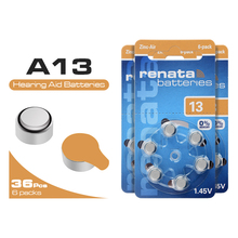 36Pcs/lot 1.45V Zinc Air Button Battery 13 A13 P13 13A ZA13 PR48 AC13 Hearing Aid Batteries Ear Care for BTE Aids