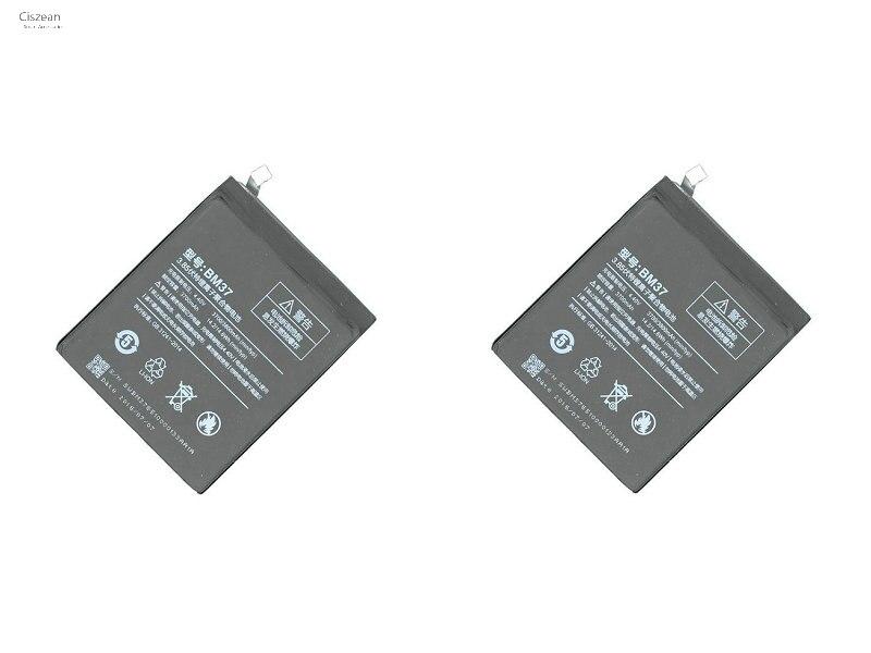 Ciszean Bm37-Battery Mobile-Phone Xiao Mi 3700mah 5s-Plus For Mi5s 2pcs/Lot