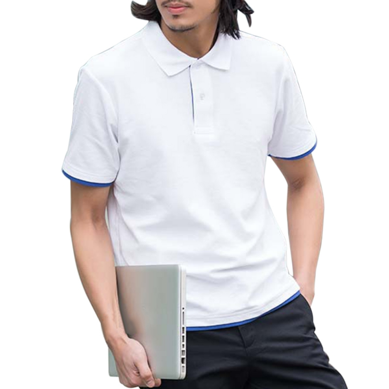 New 2018 Summer Men\'s Quick Dry Smart Casual   Polo   Shirt Tops Men Jersey Short Sleeve Shirts Breathable Plus Size XXXL T6