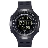 PASNEW 2019 calorie counter big dial compass digital wrist watch with pedometer function 5008