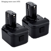 2pcs12V 3000mah NI MH Rechargeable Battery for HITACHI Power Tool Battery EB1212 EB1214 EB1220 EB1222 EB1226 EB1233