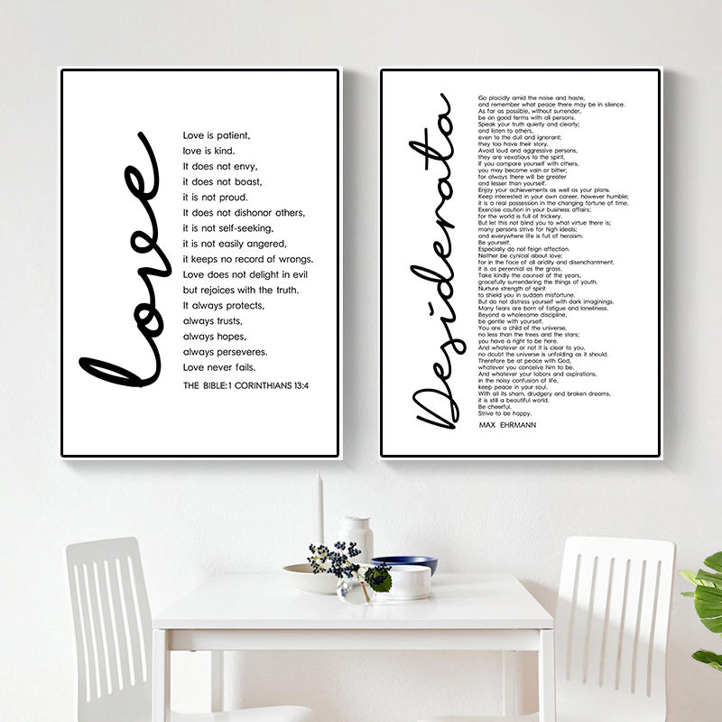 Desiderata Print Max Ehrmann Poem Bible Poster Decor Inspirational Word Printable Wall Art Motivational Quote Canvas DecorHD2626 image