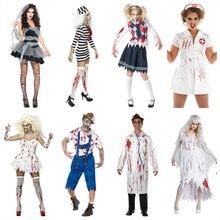 Deadpool Costume Adult Men Rompers Ghost Bride Women Dress Anime Cosplay for Devil Vampire Horrible Halloween Party in Carnaval