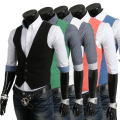 AliExpress wholesale men's vest korean fashion in 2013 mens solid colorfull casual Slim blazer vests body building waistcoat