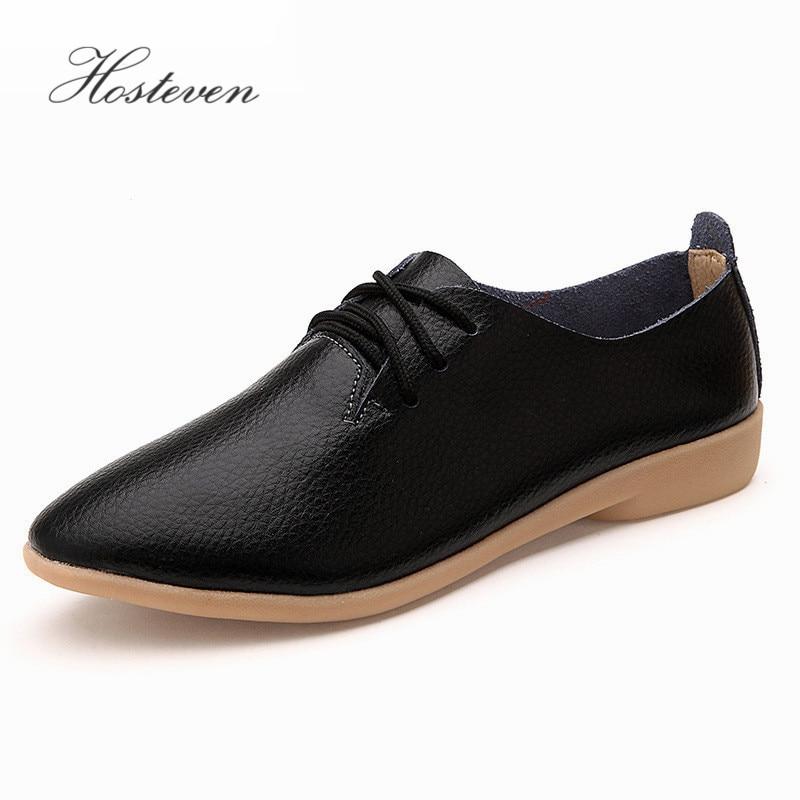 Zapatos de mujer Casual Ballet suave mocasines de cuero genuino Slip On Woman Flats Shoe Flexible Peas calzado talla grande de mujer